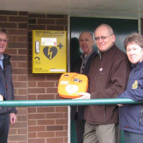 Launch of the new Community Defib at the Parish Rooms