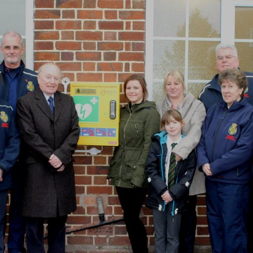 A new Public Access Defibrillator was recently unveiled in Eccleshall.